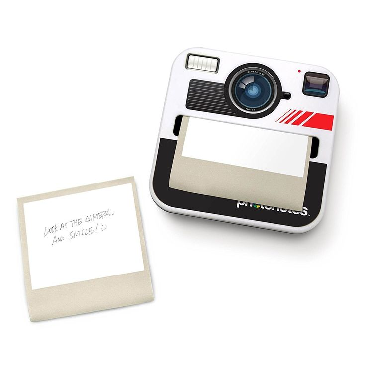 Photonotes - Sticky Notes With Camera Shaped Dispenser - from Vunk #stickynotes #camera #postitnotes #stationary #instagram