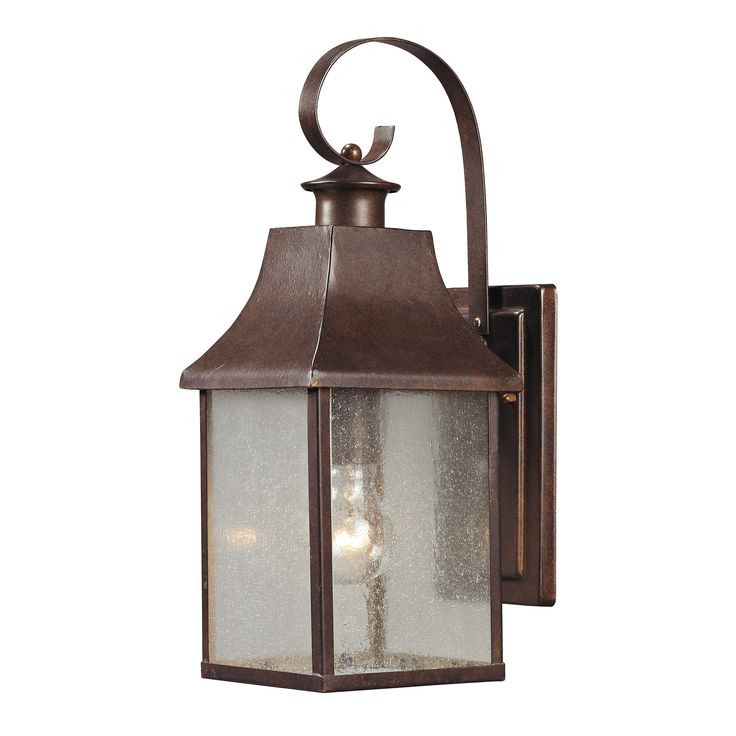 Elk Lighting Town Square 1 Light Outdoor Wall Sconce with Hazelnut Bronze finish - 47001/1