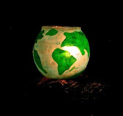 Earth Day Craft!: Crafts Ideas, Globes Luminari, Luminari Crafts, Diy Globes, Twig, Toadstool, Earth Day Crafts, April 2011, Spring Crafts