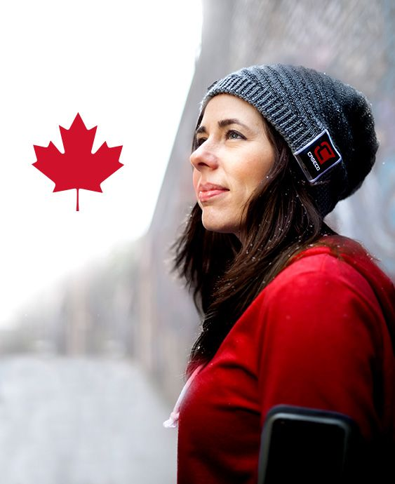 listen to music and take calls with #BluToque - our awesome smart toque! Photo credits: www.boongiproductions.com. Hat available for $49.99 at www.caseco.ca