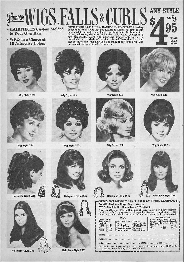 1970 Glamour Wigs, Falls & Curls
