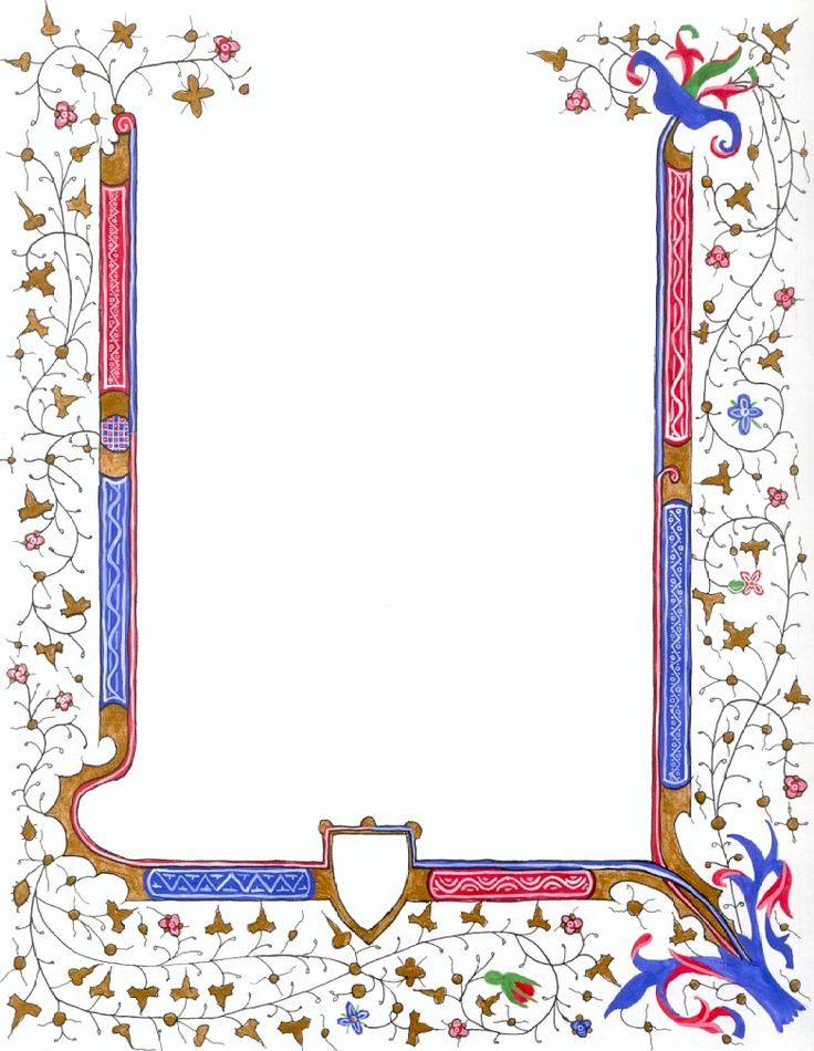 Images For > Medieval Illuminated Border