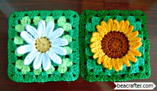 These beautiful wildflower granny squares seem so real, they remind me of Summer.The 3D flowers popping from the squares create a feeling of joy. The two wildflower granny square created by talented Maz Kwok: Wild Daisy flower granny square and Sunflower granny square come with free written crochet patterns and photos step-by-step tutorial. Click on the …