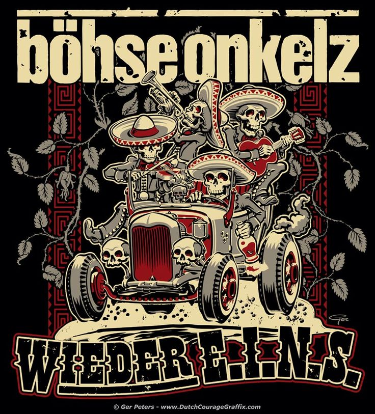 "T-shirt artwork ""Wieder E.I.N.S."" for Böhse Onkelz #punk #rock #band #tshirt #artwork #onkelz"