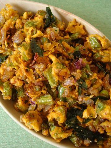 Beans Pakodi Kura ~ French beans Fritters Stir fry - Indian Food Recipes | Andhra Recipes | Indian Dishes Recipes | Sailu's Kitchen