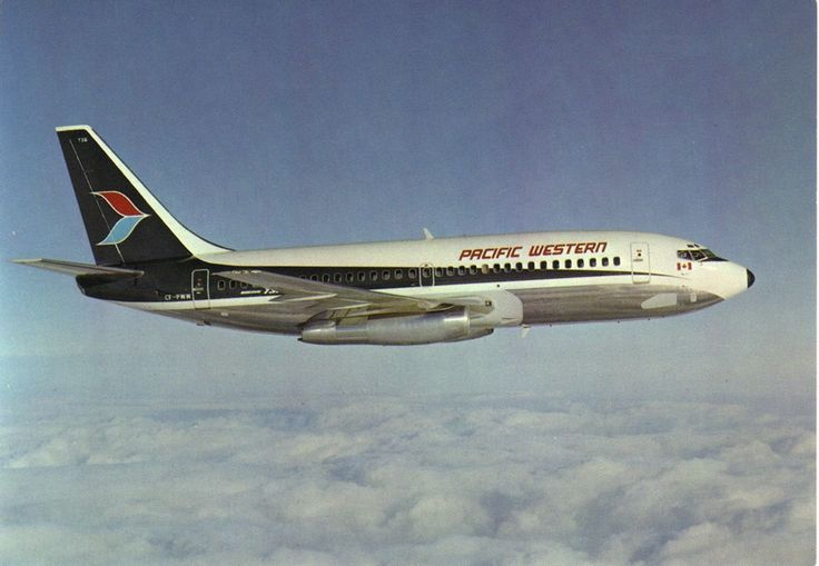 Pacific Western Airlines Boeing 737-275/Adv CF-PWW, circa 1970s. ✈ | Follow civil aviation on AerialTimes. Visit our boards on Pinterest at pinterest.com/aerialtimes or like us on www.facebook.com/aerialtimes