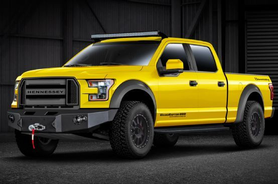 Hennessey  Turns 2015 Ford F-150 into VelociRaptor-600hp supercharged. oh man I want.