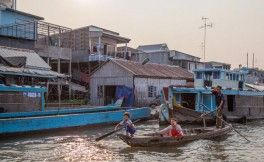 la vie aquatique des habitants à Chau Doc