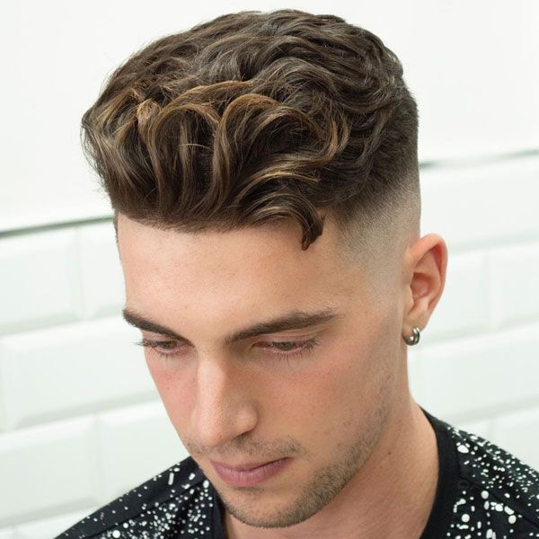 31 Cool Wavy Hairstyles For Men 2020 Haircut Styles Mens Haircuts Short Curly Hair Fade Wavy Hair Men