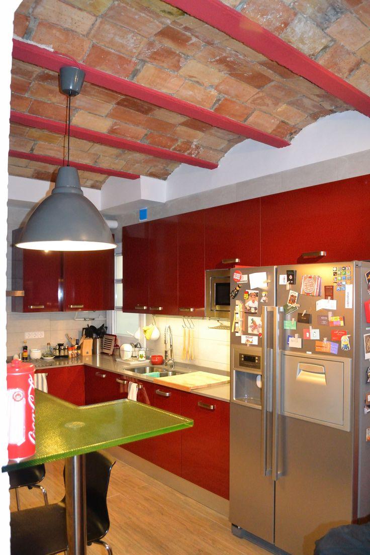 Ideas de #Decoracion de #Cocina, estilo #Contemporaneo diseñado por J. ABARCA, ARQUITECTO TECNICO E INTERIORISTA Arquitecto Técnico con #Barras de cocina #Mobiliario de cocina  #CajonDeIdeas