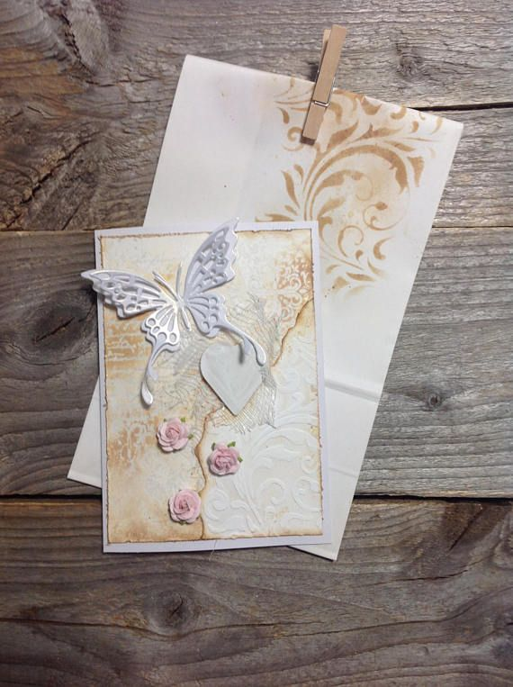 Beautiful rustic love card, perfect for Valentine!