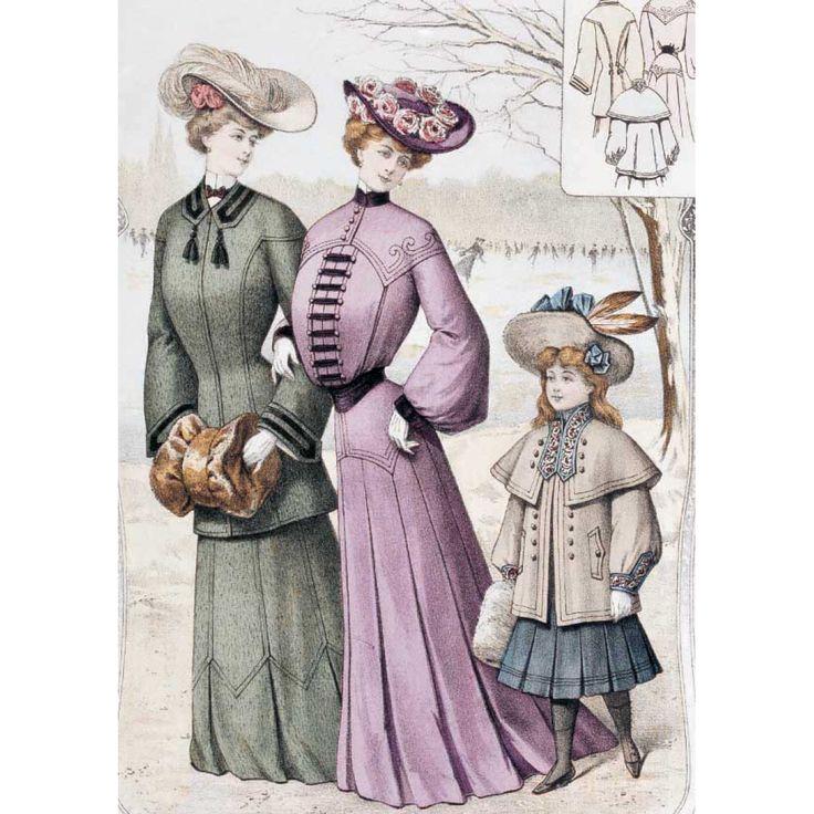 Для, история моды на открытках