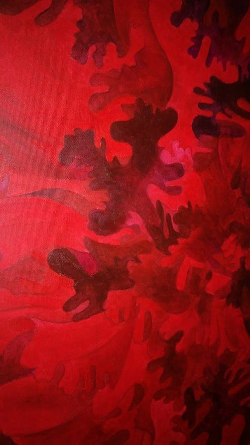 Zoom on new painting :) floral inspirations