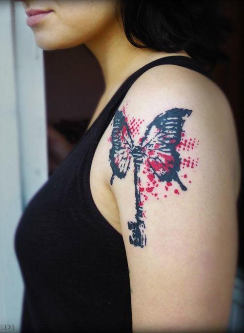 die besten 17 ideen zu schmetterling tattoo bedeutung auf pinterest tattoos und ihre bedeutung. Black Bedroom Furniture Sets. Home Design Ideas