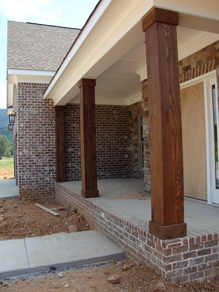 Love These Thick Stained Porch Columns In 2019 Front