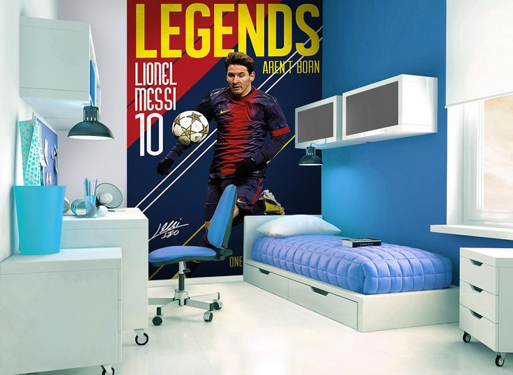 FC Barcelona Lionel Messi Wall Mural X   Kids Bedroom Eyebrow Makeup Tips