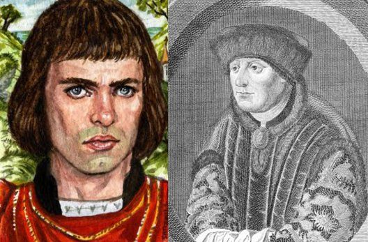 La nobleza Inglesa con Pierce de Gaviston (izq), no solo estaba escandalizada, sino también ofendida, pues el amante del Rey, siendo un plebeyo, hijo de un exsoldado, habia sido elevado al cargo de conde, igualándolo a la nobleza.  Tomas Plantagenet (der), juró matar al joven y lo decapitó en un juicio falso.  El Rey Eduaro II juro venganza y mandó matar de Tomas, 10 años después en una fiesta de su familia.