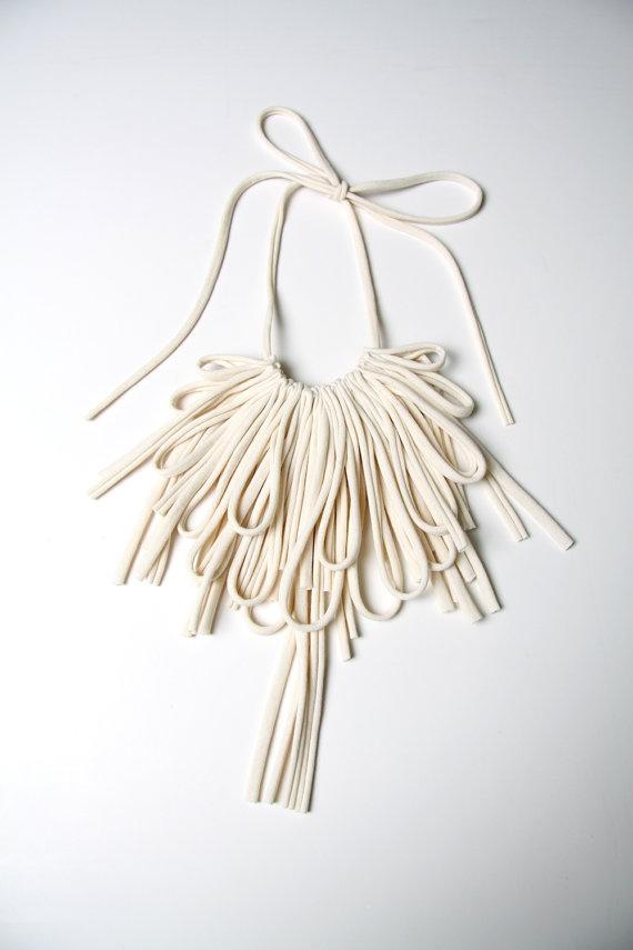 Bib Necklaces Unique Fabric Necklace by Necklush