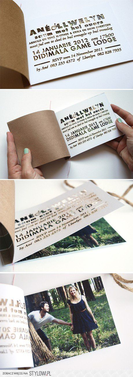 Cute DIY wedding invitation idea.