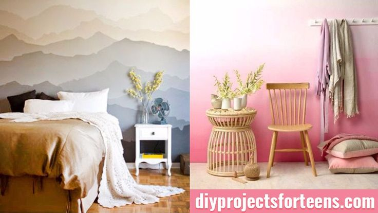 Need some cool new ideas for your blank boring walls? You can always add wall art, but why not tackle the wall itself and make a seriously creative statement. These fun DIY projects are perfect for teen rooms and you can decorate your own walls if you follow these easy step by step tutorials. These