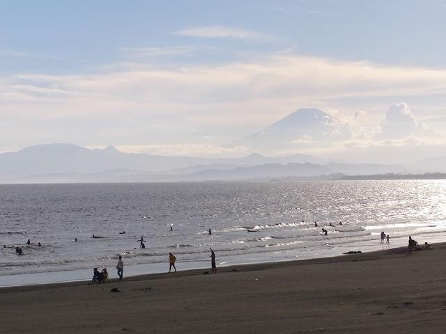 View of Mt. Fuji from Enoshima beach