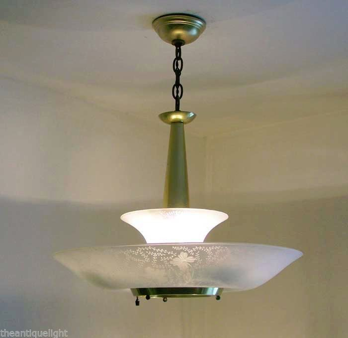 virden mid century saucer pull down atomic light fixture 50s lamp li