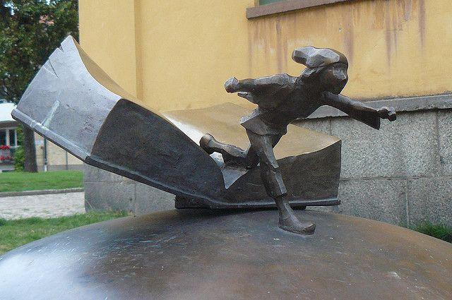 Swedish book monument... by Agnieszka Gdansk, via Flickr