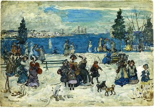 April Snow, Salem - Maurice Prendergast