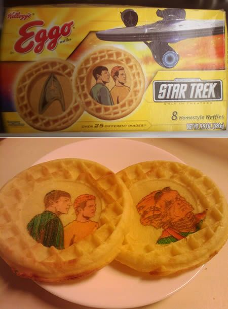 Star Trek printed waffles!!!!!!!!!!!!