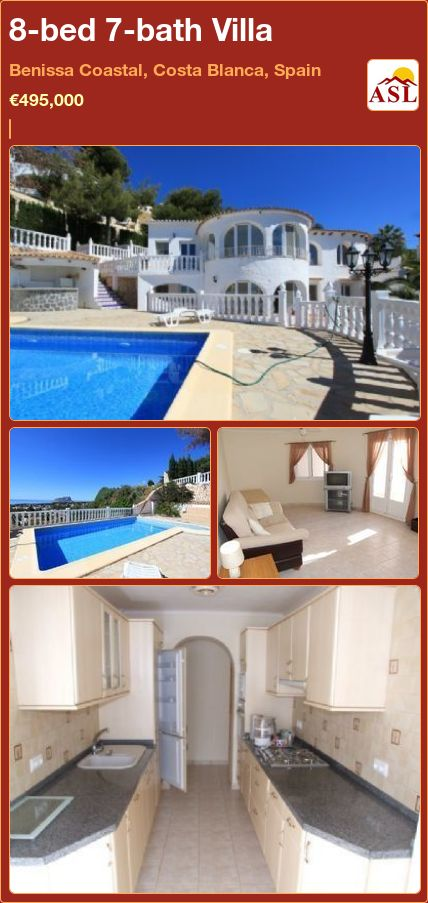 8-bed 7-bath Villa in Benissa Coastal, Costa Blanca, Spain ►€495,000 #PropertyForSaleInSpain