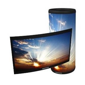 Nanolumens사의 플렉서블 및 원통형 LED 디스플레이, 저거 초기제품 보러 2010년에 올랜도 갔었어요.