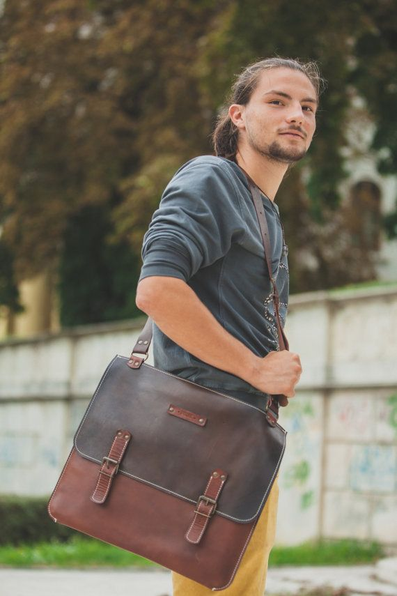 Toscana 15laptop Bag Handmade Leather BagMen's by 74streetbags, $245.00