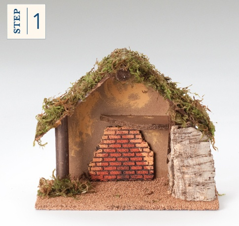 """Build your own family nativity--it's as easy as 1-2-3! First pick a stable to start your own set. We currently offer 12 different styles in the 5"""" scale. #Fontanini #Nativity #BuildingNativities"""