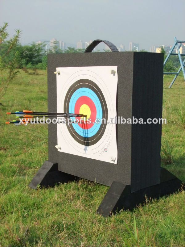 foam archery target:  1.light weight then the traditional target  2.good to take  3.easy set