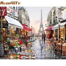 Frameless Paris Street DIY Painting By Numbers Handpainted Canvas Painting Home Wall Art Picture For Living Room Unique Gift  *** Details on this item can be viewed on  AliExpress.com. Just click the VISIT button. #HomeDecor