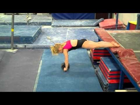 ▶ Cast to handstand drills and conditioning. I like this drill, what a little stud muffin
