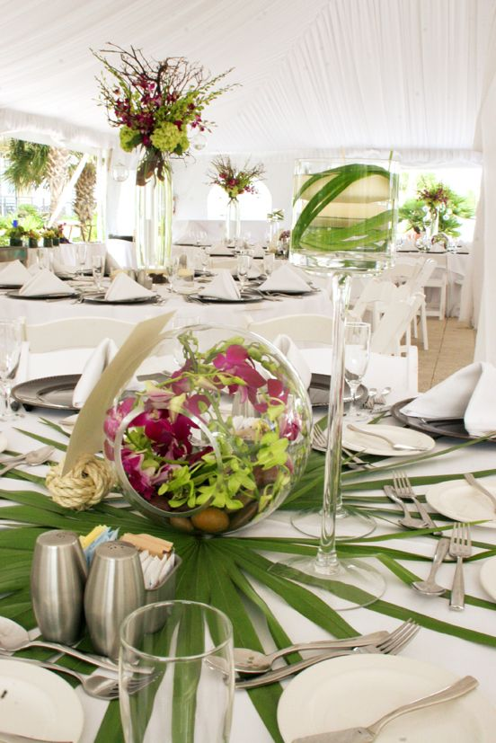 Palmetto Leaves As Part Of Center Piece!! True FLorida Love!!!! Hawaiian  CenterpiecesHawaii WeddingDestination WeddingTropical PartyTropical ... Part 72