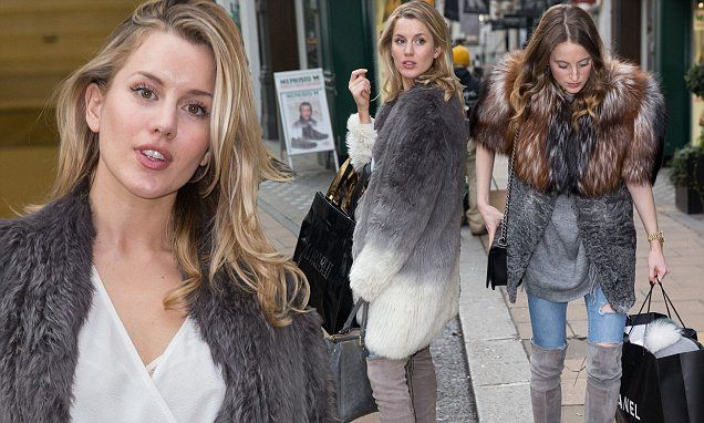 Made In Chelsea's Caggie Dunlop and Rosie Fortescue wear matching boots | Daily Mail Online