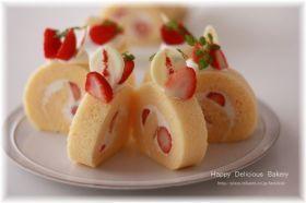 「ふわふわキュートなイチゴロールケーキ♪」あいりおー | お菓子・パンのレシピや作り方【corecle*コレクル】