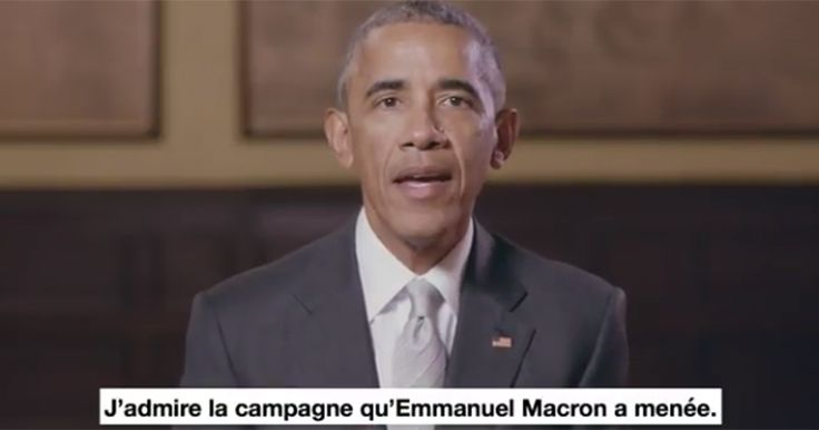 Video: Obama Endorses Emmanuel Macron for French President.  The kiss of death.  Thank you Obama for helping Le Pen win the French election.