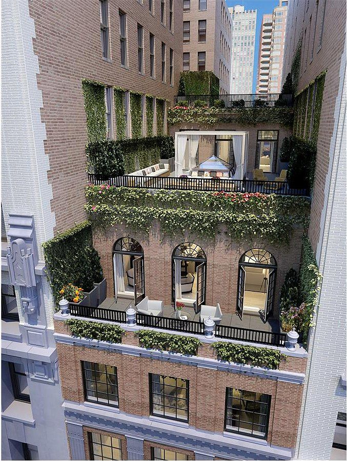 Interesting vertical green for this rooftop garden jennifer lopez new york city home go inside jennifer lopezs nyc apartment harpers bazaar magazine