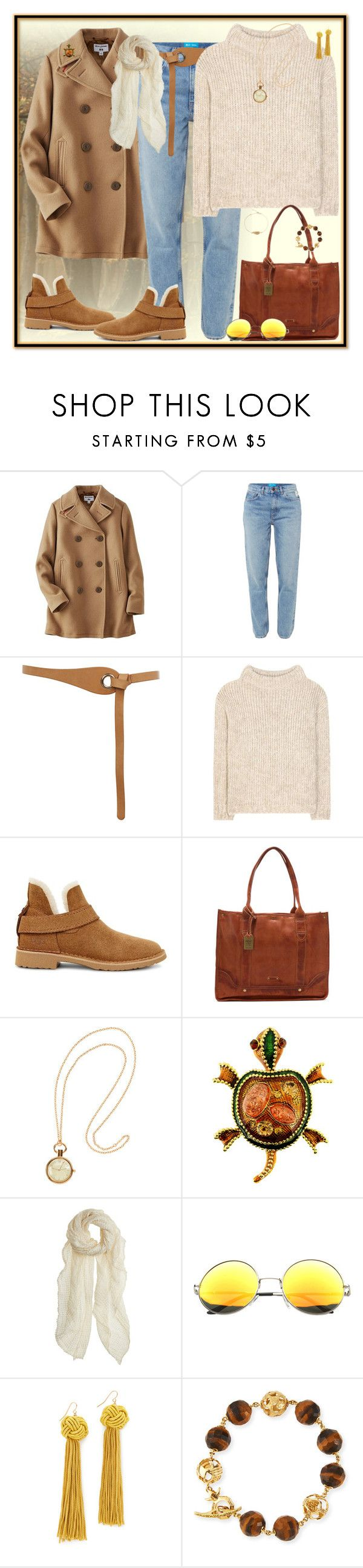 """""""Go For A Walk"""" by winscotthk ❤ liked on Polyvore featuring Uniqlo, M.i.h Jeans, Warehouse, Tom Ford, UGG, Frye, H&M, Faliero Sarti, Vanessa Mooney and Marco Ta Moko"""
