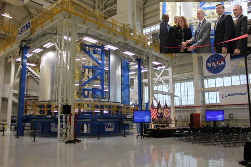 AmericaSpace image of the Ribbon-Cutting Ceremony of a Friction Stir Welding Machine at NASA's Michoud Assembly Facility located in New Orleans in Louisiana Photo Credit Jason Rhian AmericaSpace