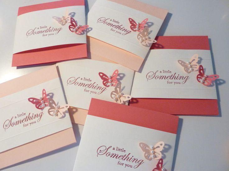 88.100均色画用紙でちょうちょのfor youカード(帯つき) | 簡単手作りカード                                             Chocolate Card Factory