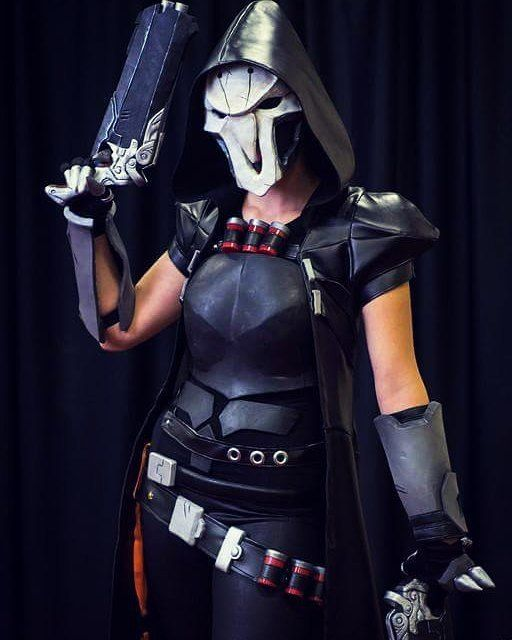 Im so happy with how my Reaper turned out. There is a few things I still need to add and reinforce but so far it's going good. Photo by Sparks McGhee #reapercosplay#reaperoverwatch#reaperguns#cosplayguns#plastidip#painting#cosplay#cosplayer#prop#cosplayprops#foamsmith#foamsmithing#evafoam#overwatch#reaperjacket#sewing#patternmaking#craftyourfandom#jacket#cosplaygirl#badass