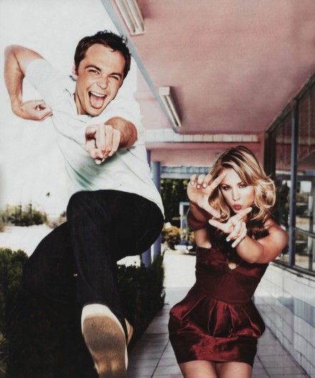 Dr. Sheldon Cooper and Penny of The Big Bang Theory.: Big Banger, Kaleycuoco, Big Bangs Theory, Pennies, Pictures, Movie, Things, Jim Parsons, The Big Bang Theory