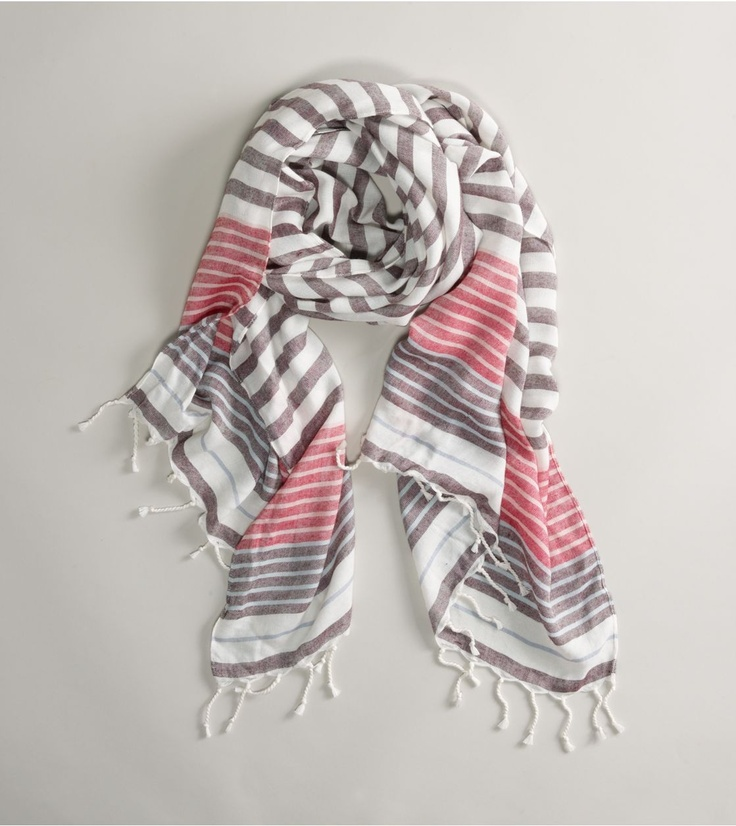 @jujubebags pink and grey striped scarf