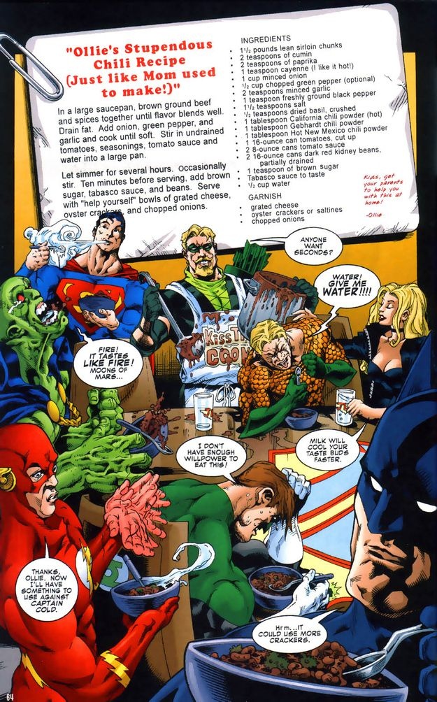 He makes a mean bowl of chili. (Seriously, try it. It's good.) | 18 Reasons Green Arrow Is DC's Most Under-Appreciated Character