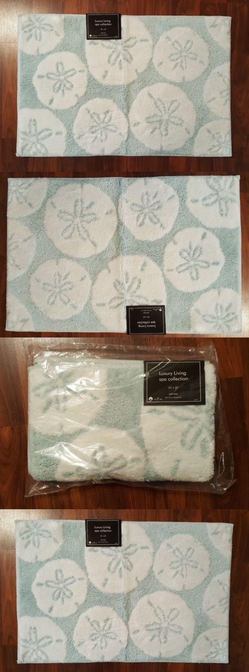 Bathmats Rugs and Toilet Covers 133696: Nautical Bathroom Bath Mat Rug Sand Dollars Blue White 20 X 30 Coastal New -> BUY IT NOW ONLY: $36.49 on eBay!