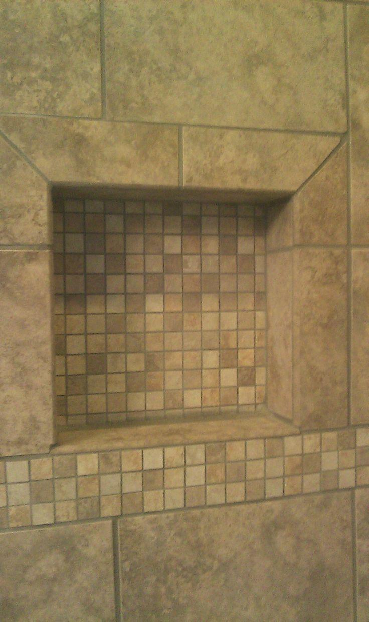Tile Shower Shampoo Niche New Home Ideas Pinterest
